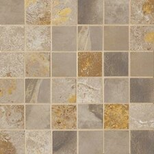 "Jade 2"" x 2"" Porcelain Mosaic Tile in Taupe"