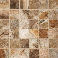 """Vesale Stone 2"""" x 2"""" Porcelain Mosaic Tile in Rust"""
