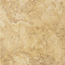 "Artea Stone 13"" x 13"" Porcelain Field Tile in Oro"