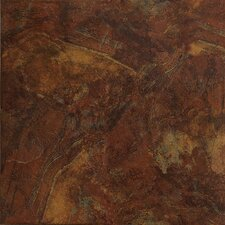 "Imperial Slate 16"" x 16"" Ceramic Field Tile in Rust"