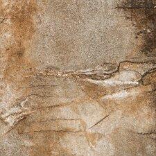 """Vesale Stone 6.5"""" x 6.5"""" Porcelain Field Tile in Rust"""