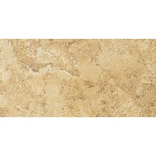 "Artea Stone 6.5"" x 13"" Porcelain Field Tile in Oro"