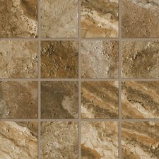 """Archaeology 3"""" x 3"""" Porcelain Mosaic Tile in Chaco Canyon"""
