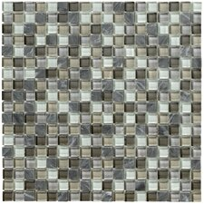 Crystal Stone II Glass Mosaic Tile in Pewter