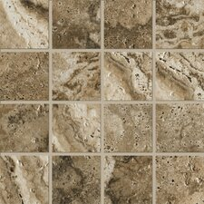 """Archaeology 3"""" x 3"""" Porcelain Mosaic Tile in Troy"""