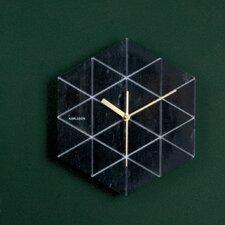 Wanduhr Marble Hexagon
