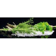 Glasbild Black Mirror Herbs Fotodruck von Merkel Uwe