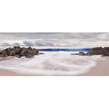 Glasbild Shoreline Beach Fotodruck von EG Design Team