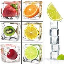 """7-tlg. Magnete Set """"Fruit Cubes"""""""