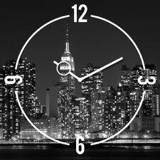 Analoge Wanduhr Time Art New York