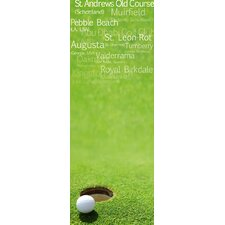 Magnettafel Golf - 80 x 30 cm