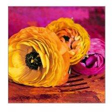Glasbild Orange Meets Purple von Haase A. - 50 x 50 cm