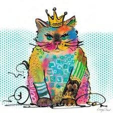 Keilrahmenbild Cat Diva von Cloud Lucy - 20 x 20 cm