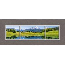 Glasbild Top Label Acryl Idyllic Summer Landscape