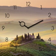 Analoge Wanduhr Time Art Tuscany Garden