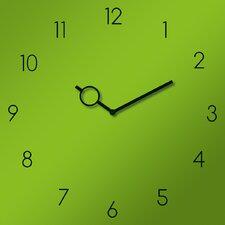 Analoge Wanduhr Time Art Green