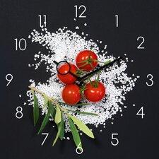 Analoge Wanduhr Time Art Cucina Italiana Pomodori