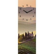 Analoge Wanduhr Time Art Tuscany Garden XXL