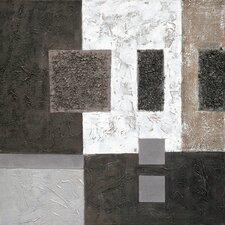 Gerahmtes Leinwandbild Black Squares