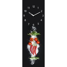 Analoge Wanduhr Time Art Cucina Italiana Pomodori XXL