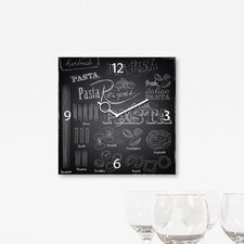 Analoge Wanduhr Time Art Trend Pasta For Everyone