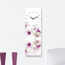 Analoge Wanduhr Time Art Orchid Reflections XXL