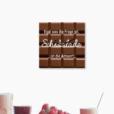 Analoge Wanduhr Time Art Trend Schokolade