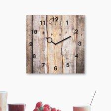 Analoge Wanduhr Time Art Wooden