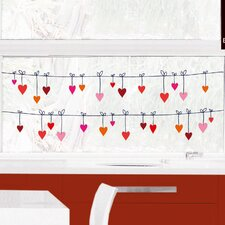 Fenstersticker Hearts Washing Line