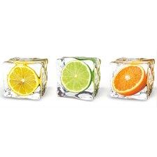 Gerahmtes Grafikdruck Fruits In Cubes von EG Design Team