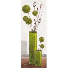 """Schild """"Elegant Green Spheres"""" von Karsten Kirchner, Kunstdruck"""
