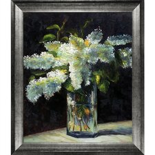 Lilacs in a Vase by Edouard Manet Framed Painting Print on Wrapped Canvas