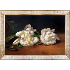 Branch of White Peonies with Pruning Shears by Edouard Manet Graphic Art on Canvas
