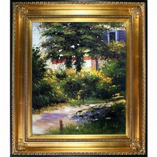 Garden Path in Rueil by Edouard Manet Framed Painting Print on Wrapped Canvas