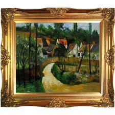 Turn in the Road by Paul Cezanne Framed Original Painting