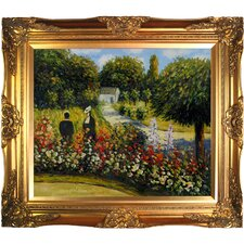 The Rose Garden at Wargemont by Pierre-Auguste Renoir Framed Original Painting