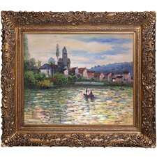 The Seine at Vetheuil by Claude Monet Framed Original Painting