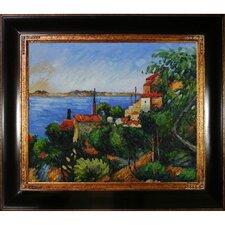 La Mer Al'Estaque by Paul Cezanne Framed Original Painting