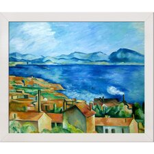 The Gulf of Marseilles by Paul Cezanne Framed Original Painting