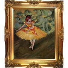 Degas Dancer Making Points Framed Original Painting