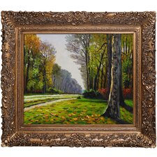 The Road to Bas-Breau, Fontainebleau by Claude Monet Framed Original Painting