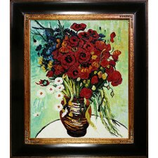 Vase with Daisies and Poppies by Vincent Van Gogh Framed Painting Print