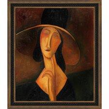Portrait of Woman in Hat (Jeanne Hebuterne in Large Hat), 1917 by Amedeo Modigliani Framed Original Painting