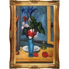 Le Vase Bleu by Paul Cezanne Framed Original Painting