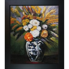 Dahlias by Paul Cezanne Framed Original Painting