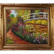 The Japanese Bridge by Claude Monet Framed Painting Print