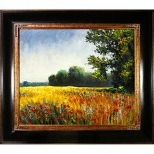 Oat Fields by Claude Monet Framed Painting Print