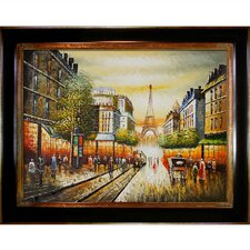 Buggy Ride Through Paris Framed Painting Print