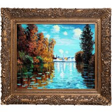 Autumn at Argenteuil by Claude Monet Framed Original Painting