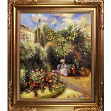 The Garden at Pontoise by Camille Pissarro Framed Painting Print